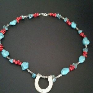 Jewelry - Turquoise n Coral Necklace